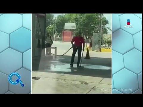 Usa gasolina para limpiar el piso | Qué Importa