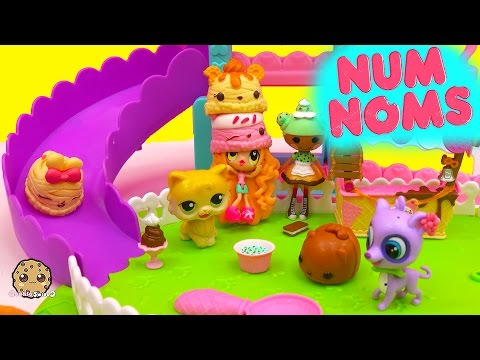 Neopolitan Ice Cream Scented Num Noms Pack Play + Slide At Park With Kawaii Crush Cookieswirlc