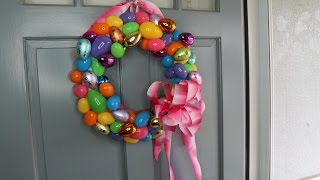 How to Make an Easter Egg Wreath Tutorial