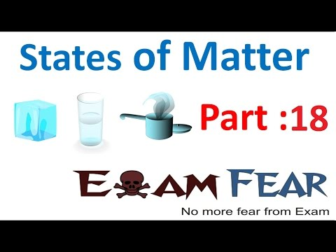 Chemistry States of Matter part 18 (Vapour pressure) CBSE class 11 XI