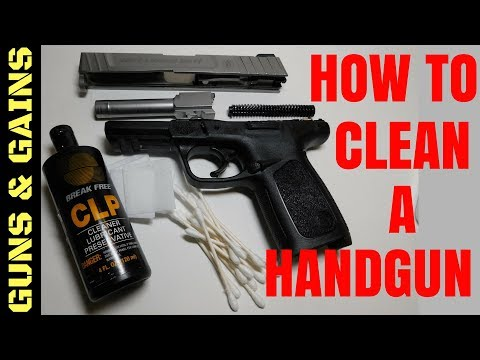How to Clean a Handgun | Smith and Wesson SD9VE | Guns & Gains