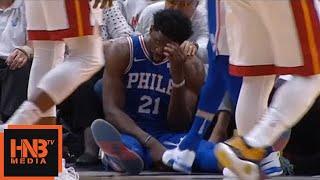 Joel Embiid broke his mask / Heat vs Sixers Game 3