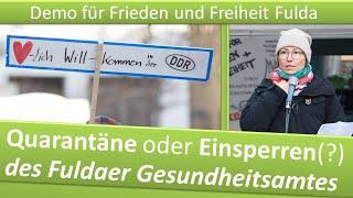Demo Frieden und Freiheit Fulda/ 19.12.20/ Quarantäne oder Einsperren des Fuldaer Gesundheitsamtes