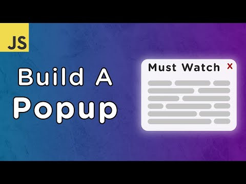Build A Popup With JavaScript