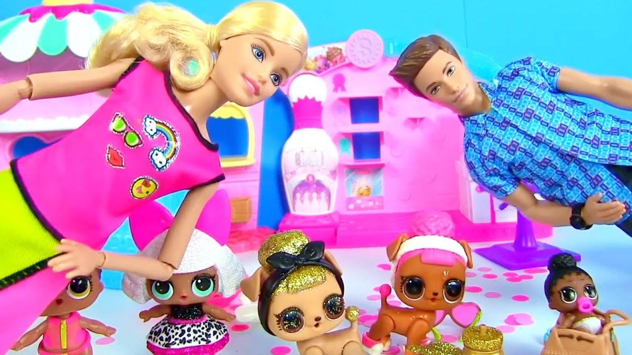 Челлендж Сборник Куклы Лол Сюрприз и Барби! Мультик Lol ...