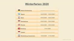 Winterferien 2020 - Termine Schulferien