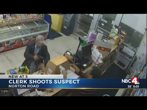 Clerk shoots robbery suspect