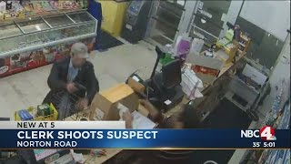 Clerk Shoots Robbery Suspect