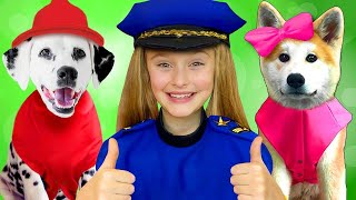 Download Sasha and Doggies Superheroes in stories about saving toys Mp3 and Videos