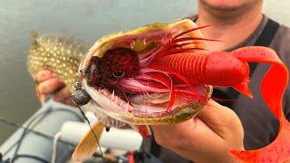 Эта приманка сделала рыбалку Ловля щуки на бактейл CWC Miuras Mouse на Каме Поклевки в кадре