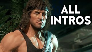 MORTAL KOMBAT 11 Rambo All Intros Dialogue Character Banter MK11