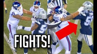 ALL Will Hernandez FIGHTS vs Cowboys (Wants All The Smoke!) Giants vs Cowboys 2019