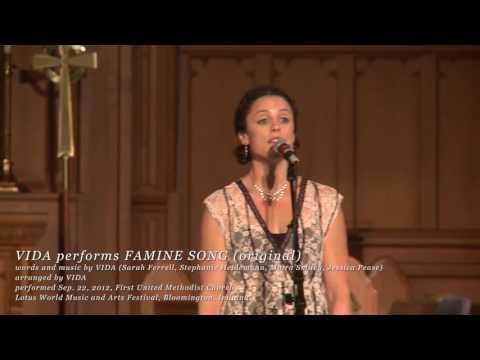 VIDA performs the original Famine Song