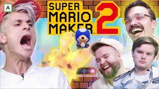 ROB SETTER DÆVVE-REKORD! Mario Maker 2 med @Retrospill , @Ole Wold  og @RobTheSir | NORSK GAMING!