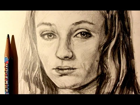 ASMR | Pencil Drawing 55 | Sansa Stark (Request)