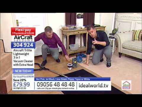 AirCraft Trilite Vacuum Cleaners Being Demonstrated on Ideal World Shopping Channel