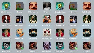 Stupid Zombies,Branny,Hello Neighbor,Granny,Slender,Free,Visage Haunted House,Scary Teacher3D