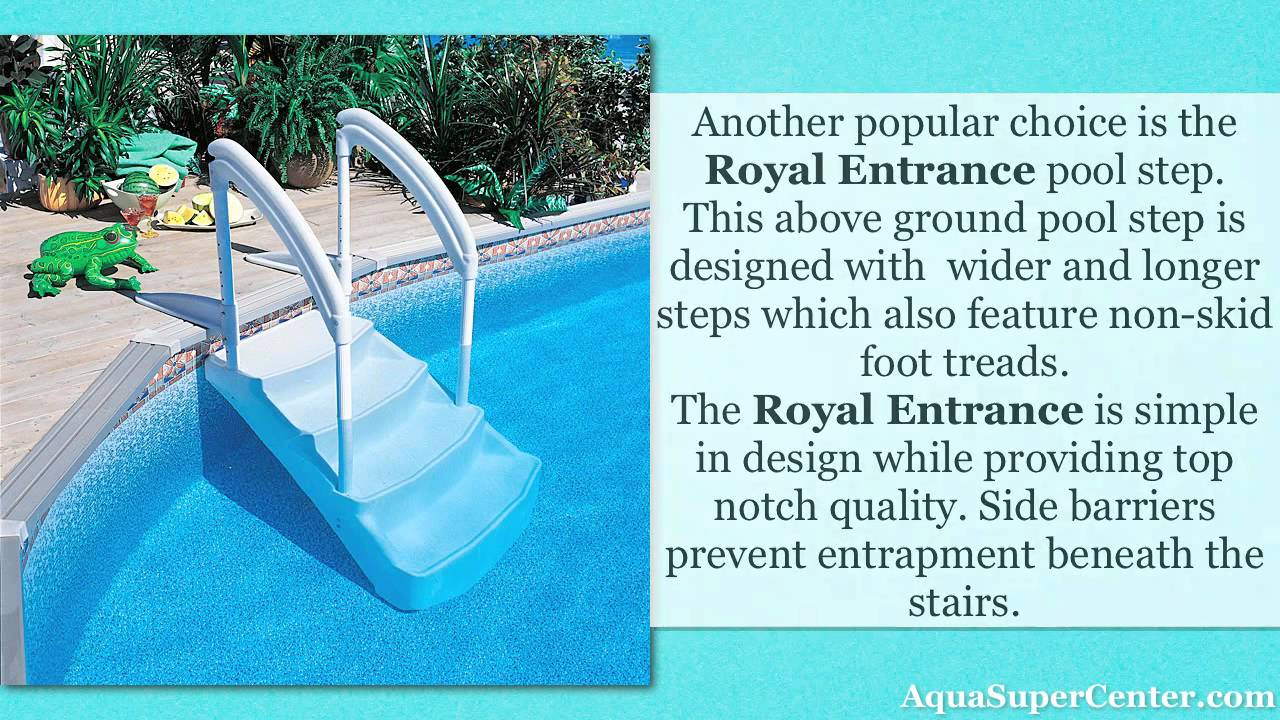 popular above ground pool steps youtube - Above Ground Pool Outside Steps