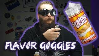 Flavor Goggles: Golden Slam eLiquid by Graham Slam ft. VapeMalone