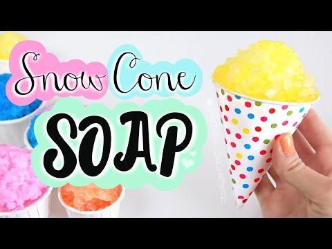 DIY Snow Cone Soap // Easy Melt & Pour Soap Making How To