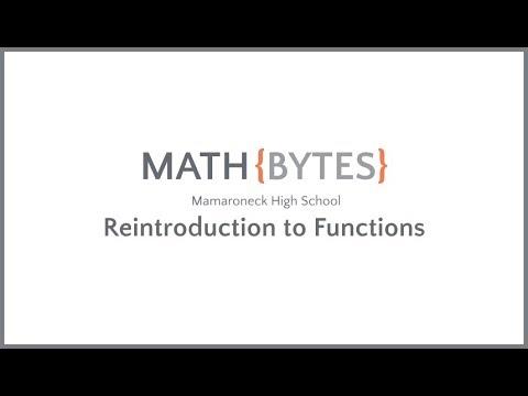 Algebra II @ MHS - Reintroduction to Functions (2.01)