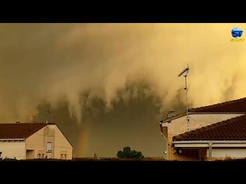 عاصفة هائلة بسرعة 122 كم/س تضرب شمال إسبانيا ، كتالونيا ومايوركا