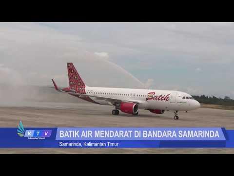 Batik Air Menjadi Maskapai Airbus Pertama Mendarat di Bandara Samarinda