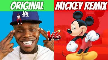POPULAR RAP SONGS vs MICKEY MOUSE REMIXES!