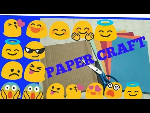 Emoji , Paper craft , Emoji with colour paper