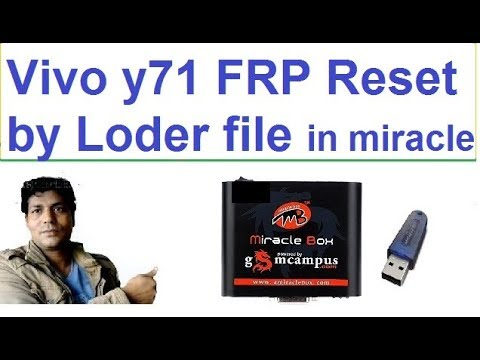 vivo y71|android ver 8 1 0|FRP Lock Reset !! by miracle box thunder