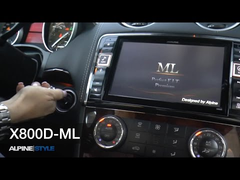 X800D-ML Mercedes ML (W164), GL (X164), navigation, sound and rear seat entertainment, Alpine Style
