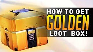 Overwatch - How to get a GOLDEN LOOT BOX!! (LEGENDARY!)