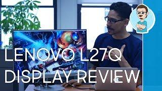 Lenovo L27q 27 inch Monitor Review!