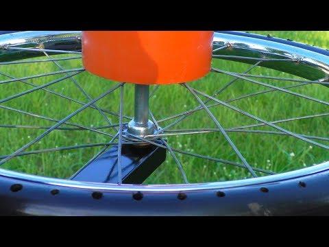 Чудо-органайзер для шуруповёрта и дрели из велосипедного колеса