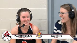 University of Calgary Commit Taylor Featherstone following 93-98 loss vs Southwest Academy