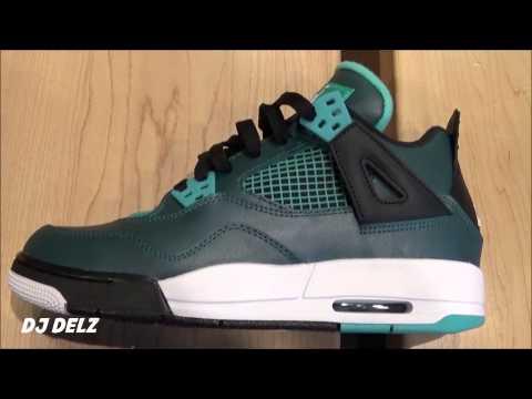 air-jordan-4-teal-gs-sneaker-review-with-@djdelz