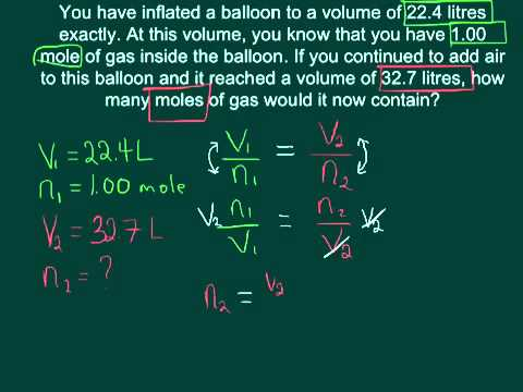 Avogadros Law Youtube