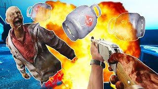 Blowing Up Zombies with Propane Tanks is Awesome in The Walking Deads Saints and Sinners VR