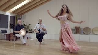 Sadie Bellydance and David Hinojosa Improv Drum Solo 2019