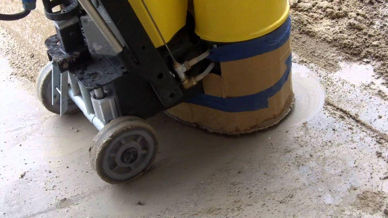 How To Polish Concrete Using The Concrete Genie Start To