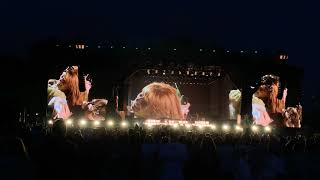 Florence And The Machine - BST crowdsurfing during Kiss With a Fist! British Summer Time, London, UK