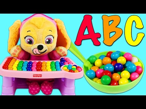 LEARN ABC Song with Paw Patrol Baby Skye Part 1!