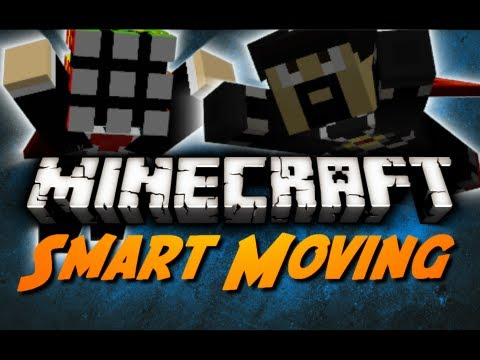 Minecraft Mod Review: SMART MOVING! (Single + Multiplayer Review)