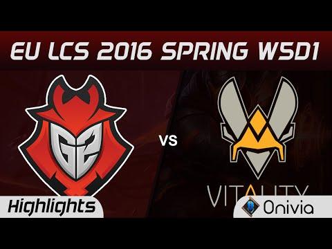 G2 vs VIT highlights EU LCS Spring 2016 W5D1 G2 Esports vs Vitality