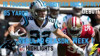 Christian McCaffrey Week 1 Regular Season Highlights Debut | 9/10/2017