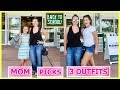 MOM PICKS 3 BACK TO SCHOOL OUTFITS CHALLENGE | SISTER FOREVER