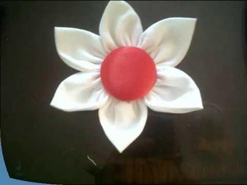 Tutorial como hacer una flor en tela youtube for Como hacer una alberca paso a paso