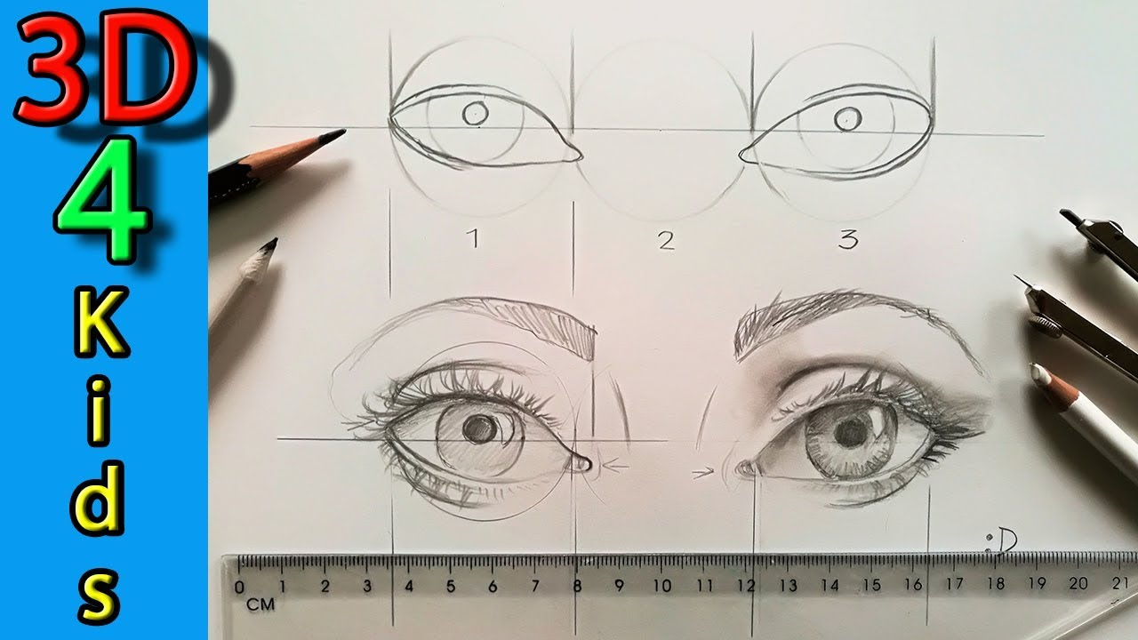 How to Draw Two Eyes - 8th Grade: Human Face Unit
