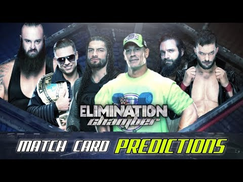 WWE Elimination Chamber 2018 Match Card Predictions