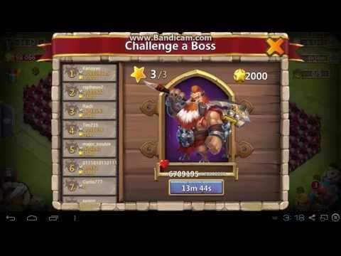 Castle Clash : Tier 3 Boss Perma-stun Without  Heavy Blow [HD]